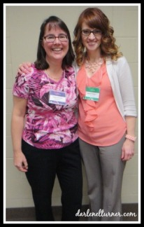 Dar with Sandra Orchard (author of award-winning book Deadly Devotion - congrats, Sandra!)