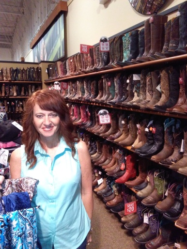 Boot shopping!