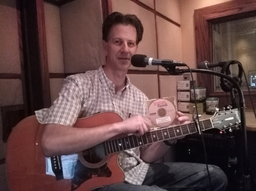"Jeff recording his song ""Rocking Chairs in Heaven"" at the Ryman!"